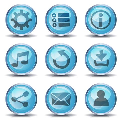 Ícones e botões para o jogo de interface do usuário vetor