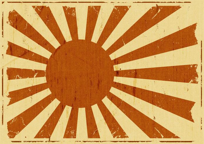 Fondo de paisaje de bandera de Japón vintage vector