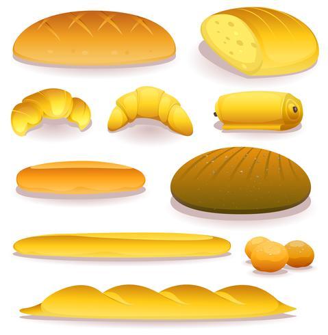 Bröd och Bageri Ikoner Set