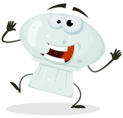 Personagem de desenho animado feliz cogumelo