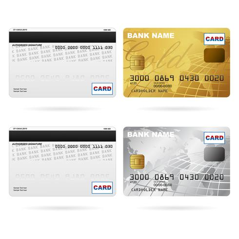 Anverso y reverso de las tarjetas de crédito