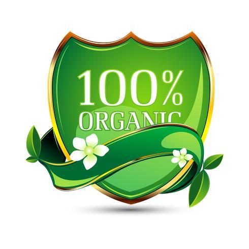 Etiqueta 100% orgánica vector
