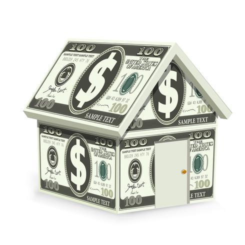 Casa del dollaro vettore