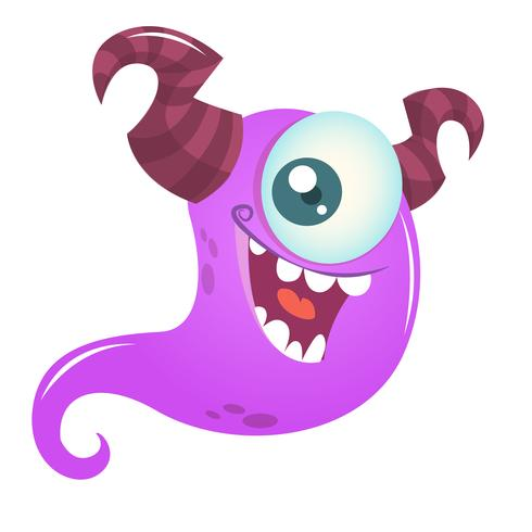 Cartoon monster character with one eye