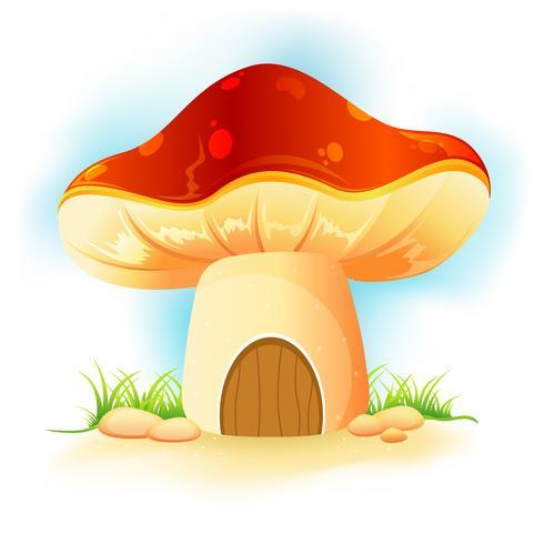 mushroom home in garden
