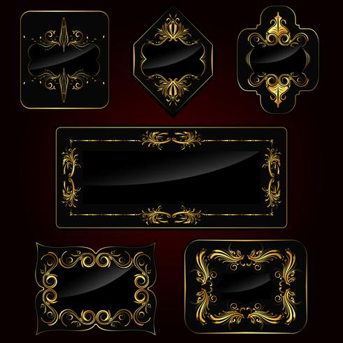 Conjunto de marco dorado