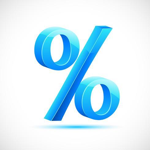 Segno di percentuale vettore
