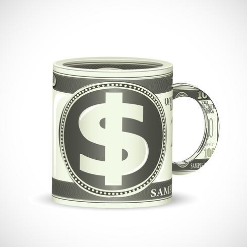 Dollar-Kaffeetasse vektor