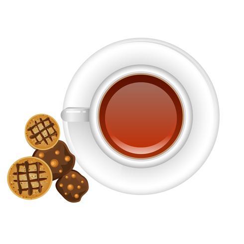 Cafe con galletas vector