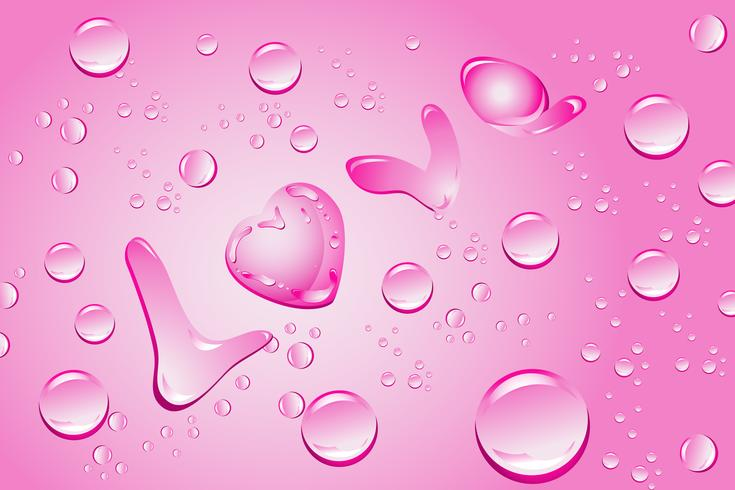 Amor com gotas de água