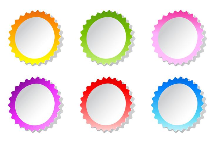 Etiqueta de colores