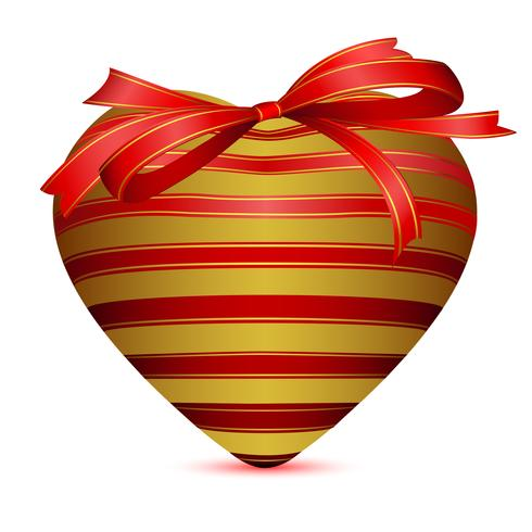 Heart Wrapped with Ribbon