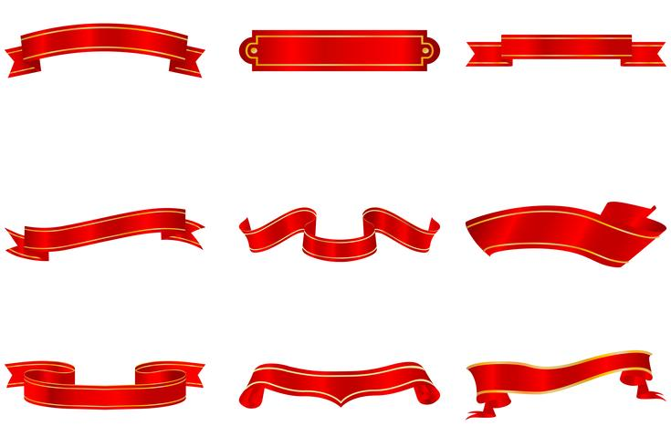 Conjunto de cintas vector