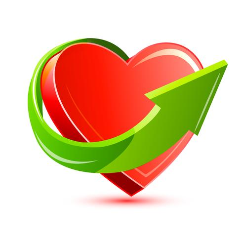 Flecha alrededor del corazón