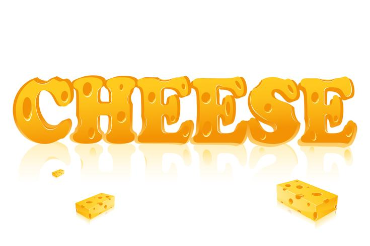 Word Cheese vector