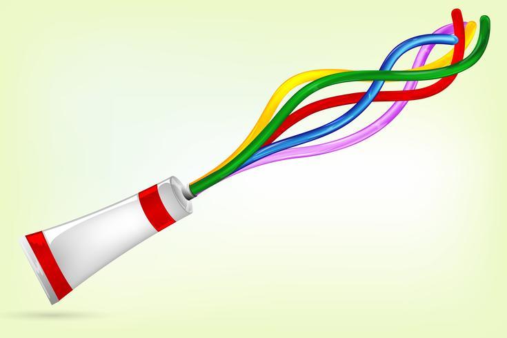Tubo de color salpicaduras de color brillante