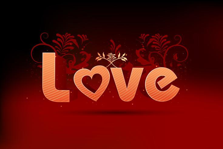 Tarjeta de amor vector