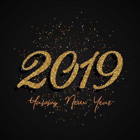 Glitter Happy New Year design  vector