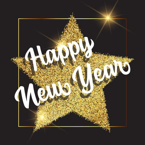 Goldener guten Rutsch ins Neue Jahr-Hintergrund vektor