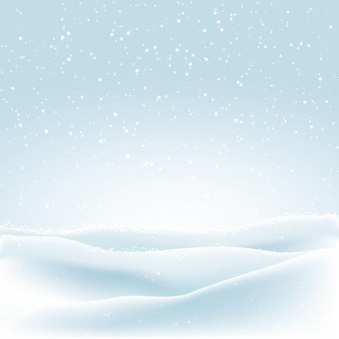 Christmas background with winter snow
