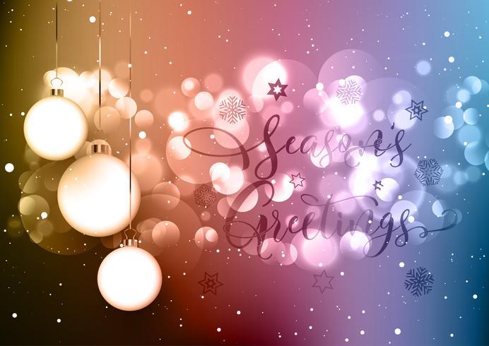 Julgran bakgrund med dekorativ text