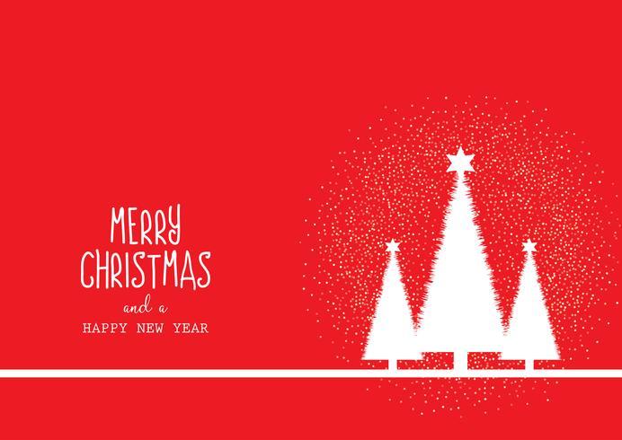 Kerstmisachtergrond met bomen en decoratieve tekst