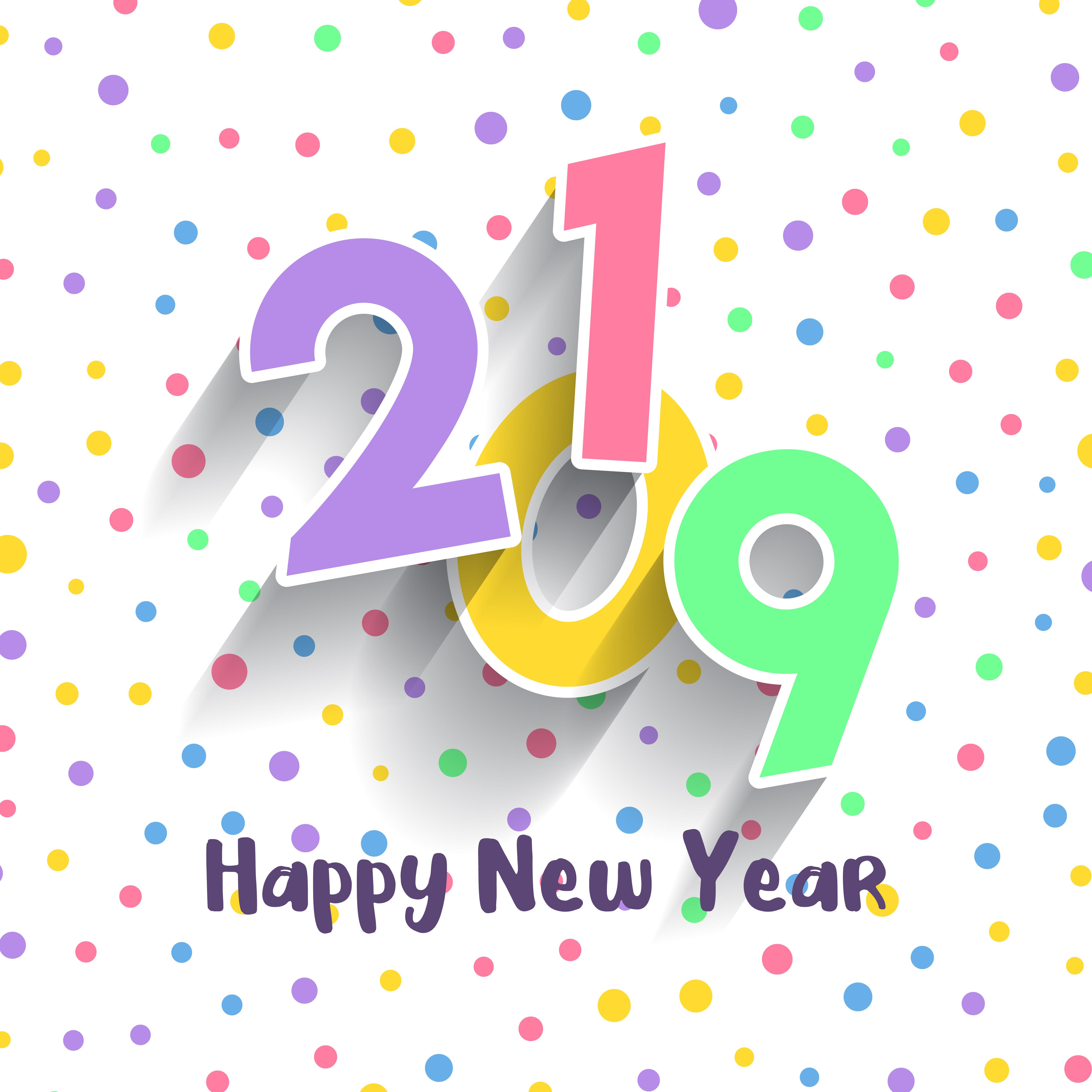 Cute Happy New Year design - Download Free Vectors ...