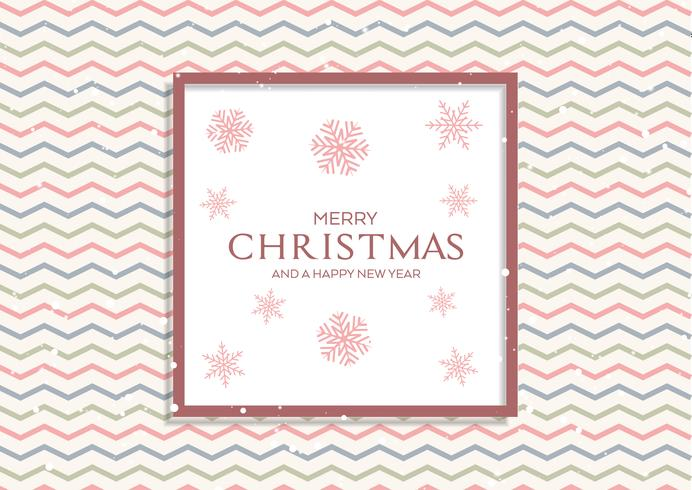 Christmas background with retro pattern and snowflakes