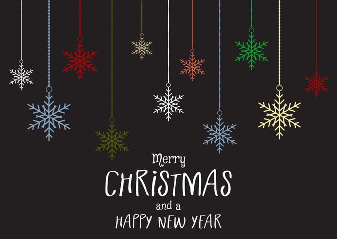 Navidad y año nuevo fondo con copos de nieve