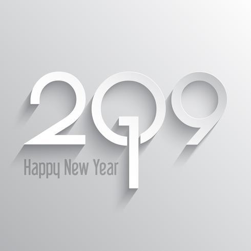 Fondo minimilist feliz año nuevo