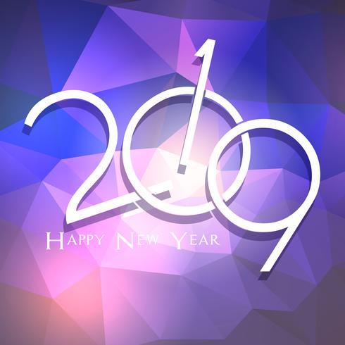 Low Poly Happy New Year Hintergrund vektor