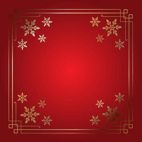 Frontera elegante del copo de nieve de Navidad