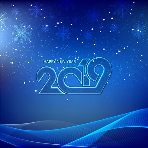 Elegant New Year 2019 decorative background