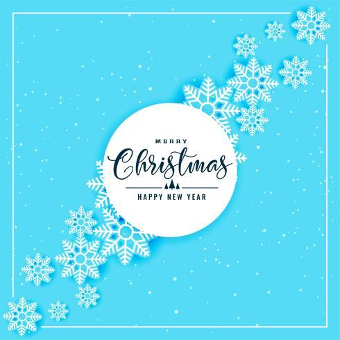 blå snöflingor bakgrund för jul och vintersäsong