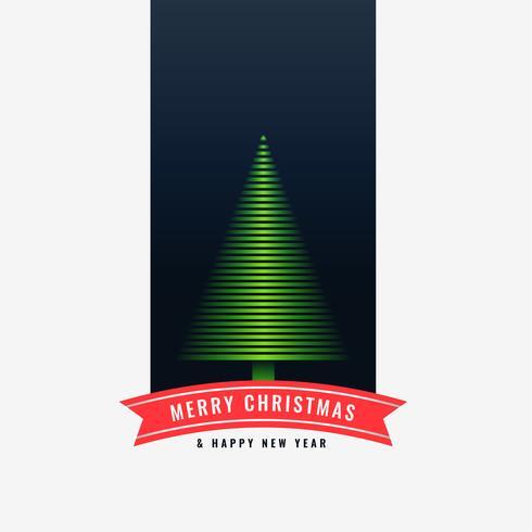 Fondo de diseño de árbol verde de feliz Navidad