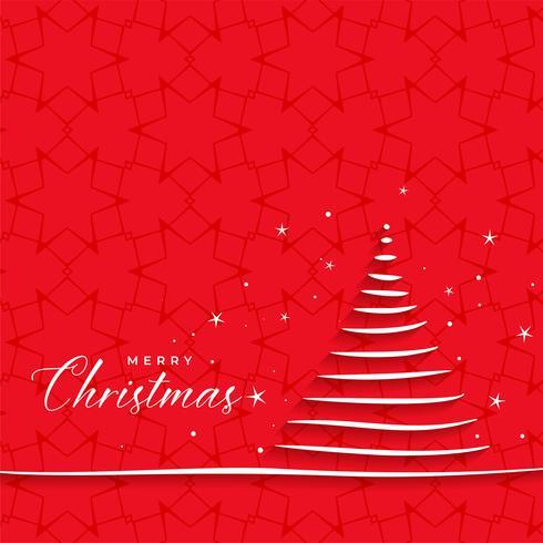 Hand gezeichneter Weihnachtsbaum für die festliche Jahreszeit