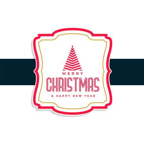 Frohe Weihnachten Label Design-Hintergrund