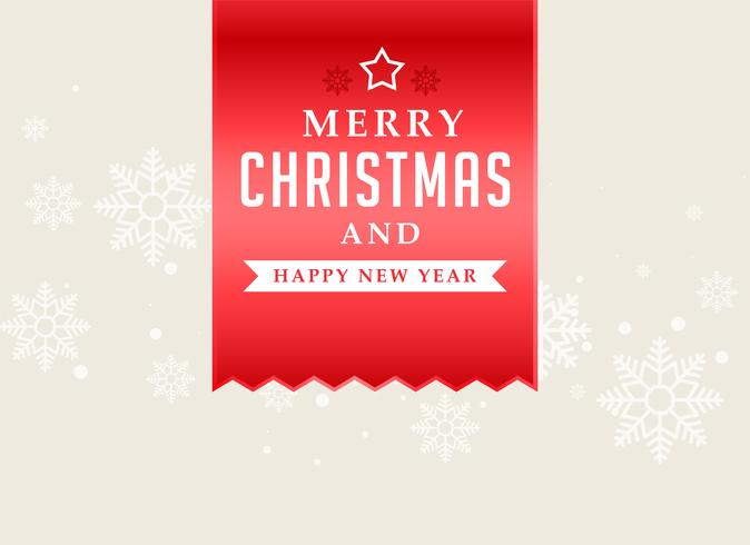 Fondo de cinta roja de feliz Navidad