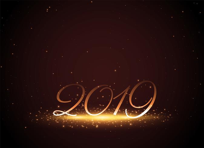 Fondo brillante año nuevo brillante 2019 celebración