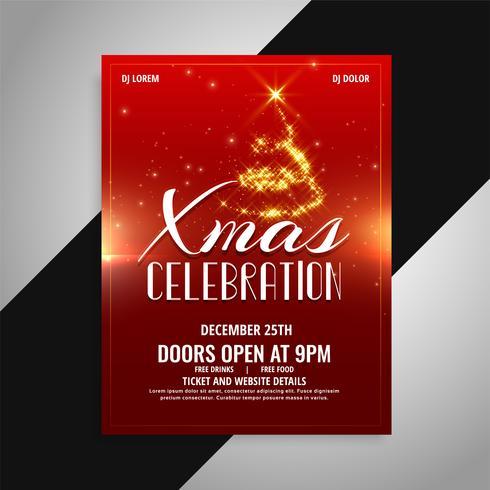 diseño del cartel de la celebración de la fiesta de navidad feliz