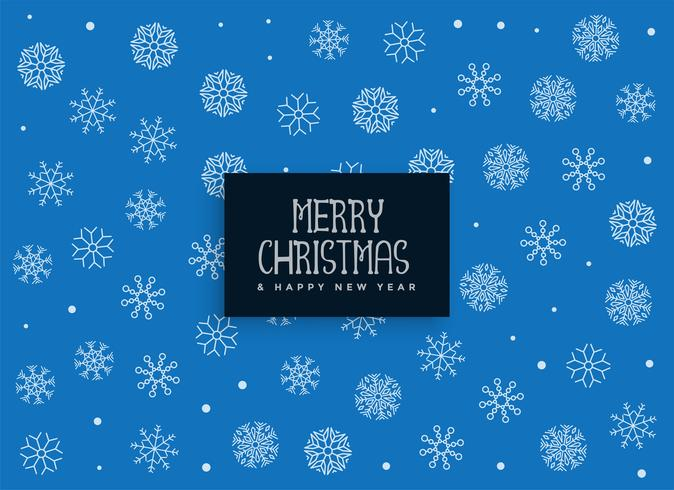 sfondo di Natale allegro fiocchi di neve blu