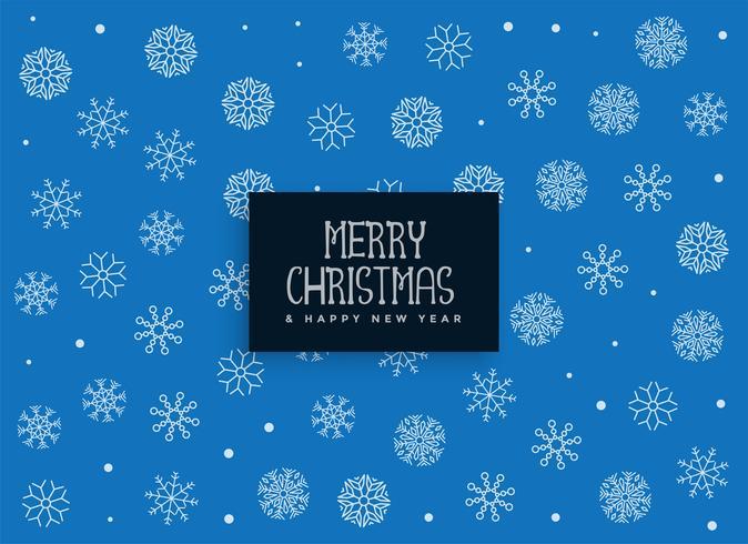 god jul blå snöflingor dekoration bakgrund