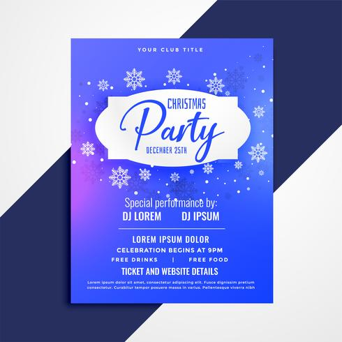 Diseño de plantilla de invitación de cartel de fiesta de Navidad