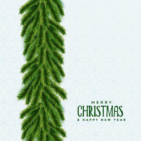 Fröhliches Weihnachtsbaumgrün lässt Hintergrund mit Textplatz