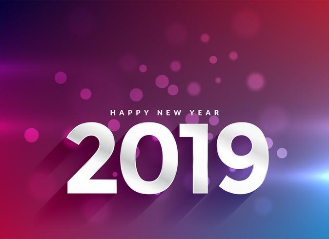 Gelukkige het jaar bokehachtergrond van 2019
