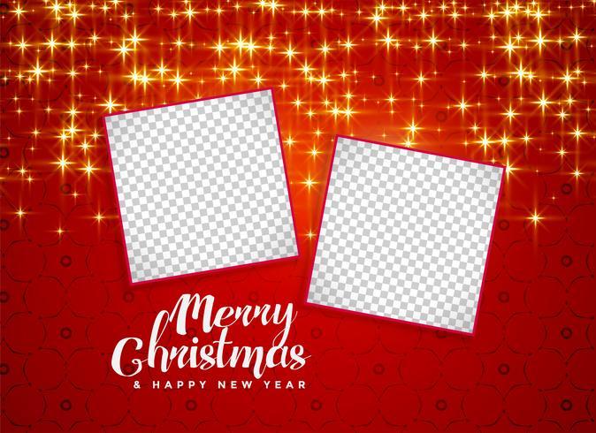 glada jul glittrar bakgrund med bildrymme