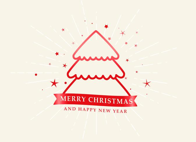 elegante Weihnachtslinie Baum mit Sternhintergrund