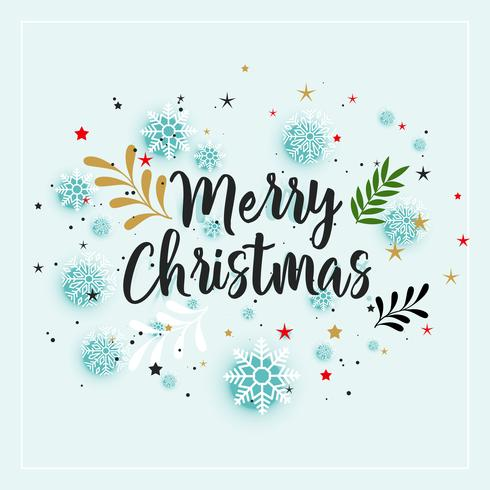 Frohe Weihnachten Winter Dekoration Hintergrund