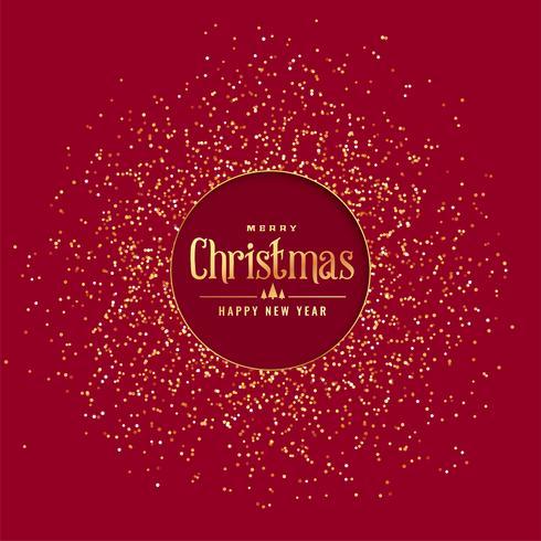 fond de Noël rouge avec des paillettes d'or