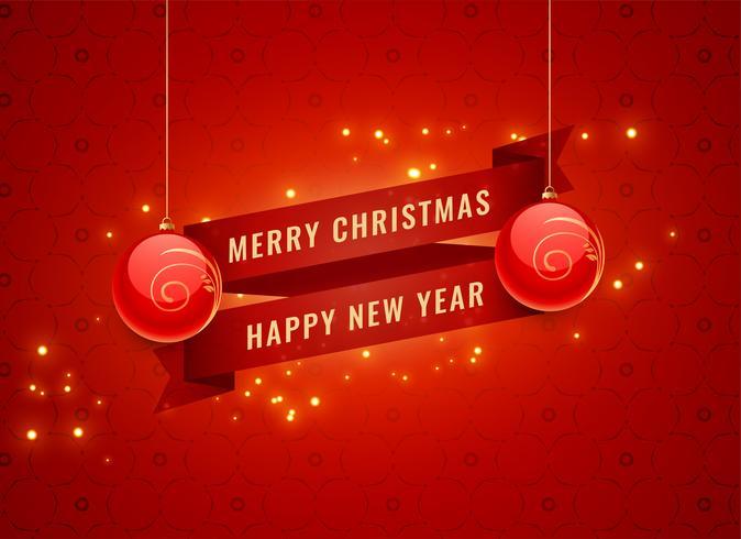 vrolijke Kerstmis en Nieuwjaar rode viering banner